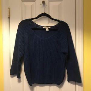Cobalt Blue 3/4 Sleeve Sweater